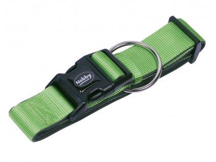 Nobby CLASSIC PRENO extra široký obojek neoprén zelená L-XL 40-55cm