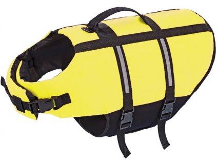 Nobby Elen záchranná plovací vesta pro psa neon žlutá L-40cm  + Tender Loving Care pamlsek - jehně 100g