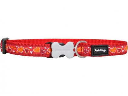 Obojek Red Dingo Breezy Love Red obojek 1,2/20-32cm