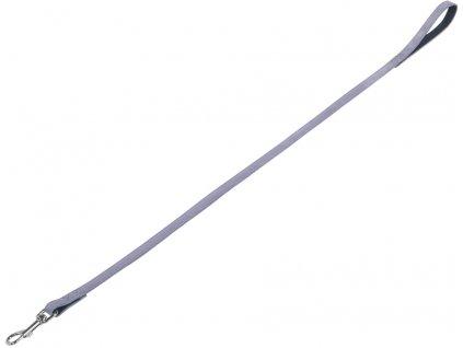Nobby VELOURS vodítko ze semišové kůže L-XL 1 m šedá