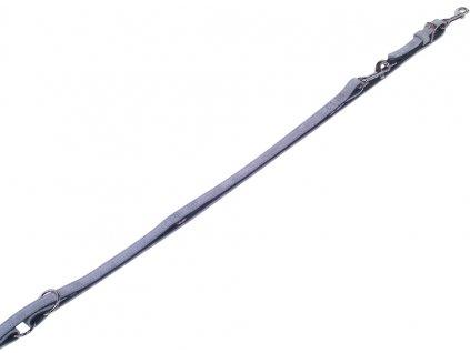 Nobby VELOURS vodítko ze semišové kůže S-M 2 m šedá