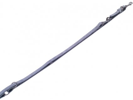 Nobby VELOURS vodítko ze semišové kůže L-XL 2 m šedá