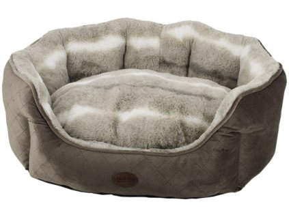 Nobby NENGA oválný pelíšek hnědá 65x57x22cm