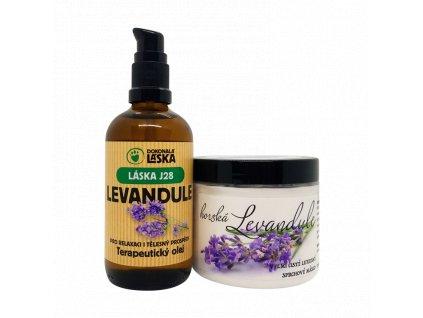 Levandule - zvýhodněná kolekce terapeutický olej a sprchové máslo