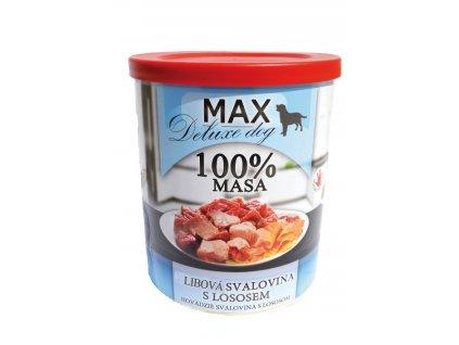 Max Deluxe Kostky libové svaloviny s lososem 800g