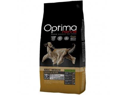 4099 optimanova dog gf medium chicken 12kg