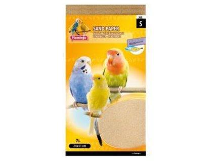 Písková podložka do klece pro ptáky S, Flamingo 7 ks, 24 x 41 cm