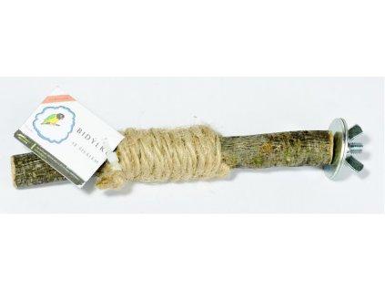 Bidýlko pták dřevo přírodní/sisál Sedupa 15 cm