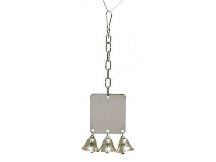 Hračka pták kov Zrcátko + zvonky Rosewood 27 cm