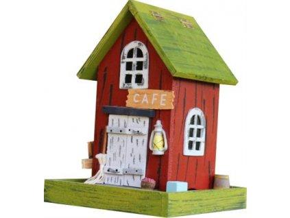 Krmítko venkovní dřevo - Café, SEKR 16 x 16 x 20 cm