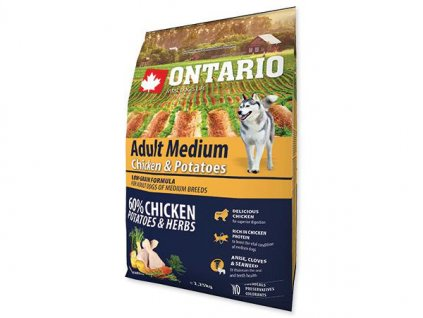 ONTARIO dog ADULT MEDIUM chicken 12kg
