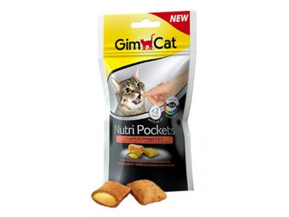 Gimcat Nutri pockets losos a omega 3+6 60 g