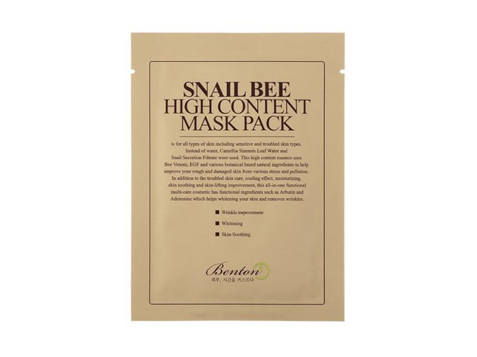 Snail Bee High Content Mask 8809540510183
