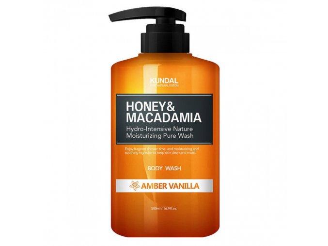 kundal honey macadamia amber vanilla body wash 500ml