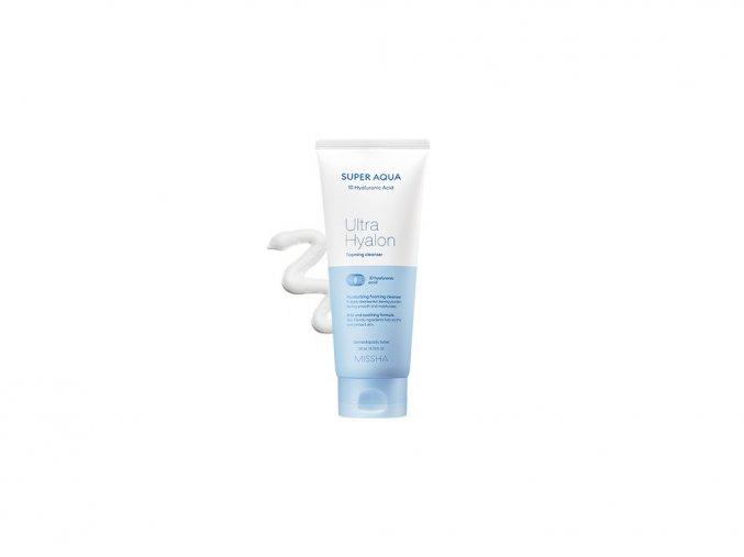 Missha Super Aqua Ultra Hyaluron Foaming Cleanser - Moisturizing cleansing foam