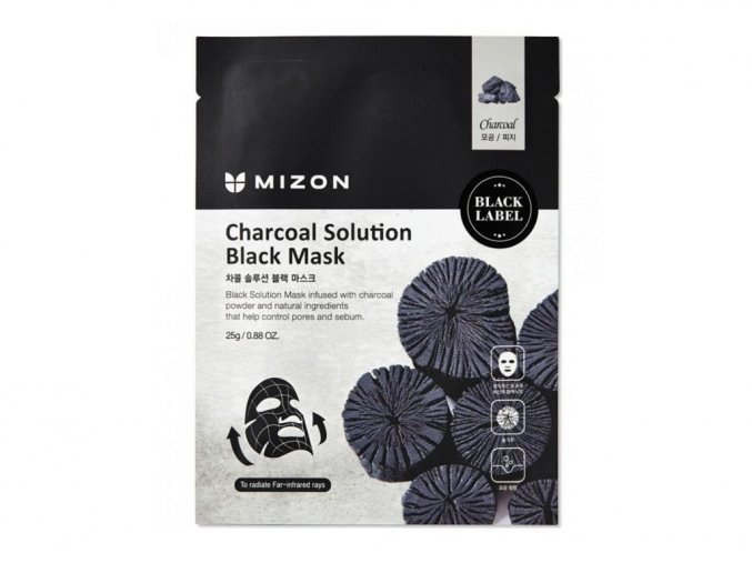 Mizon Charcoal solution black mask 25 g