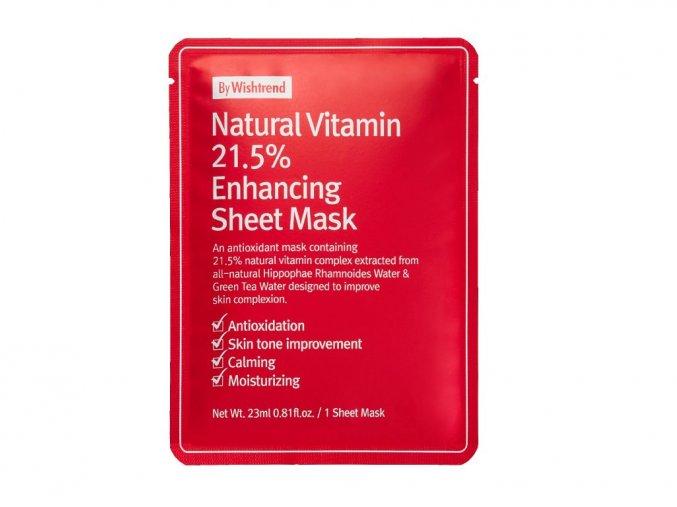 Natural Vitamin 21.5% Enhancing Sheet Mask 23ml