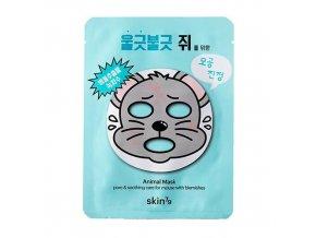 SKIN79 Maska Oczyszczajaca w Placie Animal Mask For Mouse with Blemishes 23g mini