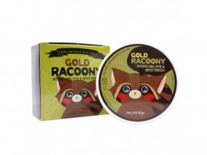 Secret Key Gold racoony hydrogel eye and spot patch - hydrogel eye pads with colloidal gold