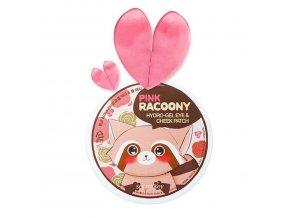 secret key pink racoony hydro gel eye cheek patch