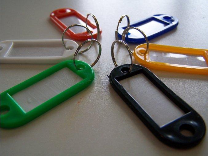Štítky na klíče