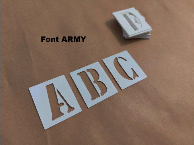 Šablony - plastové, abeceda, 26 písmen