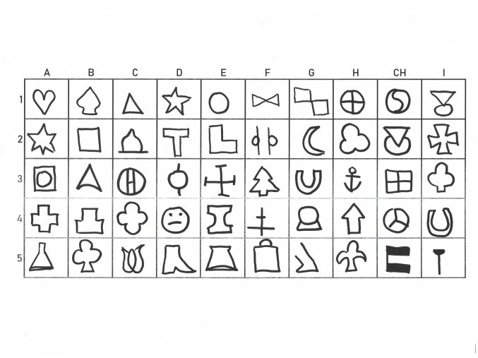 Symboly (50 ks) - znaky do automatického důlčíku