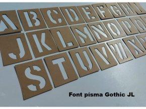 Šablony - lesklá napuštěná lepenka, abeceda, 26 písmen