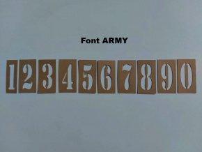 Šablony - lesklá lepenka, čísla, 10 číslic