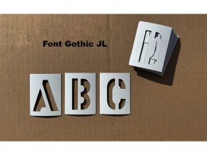 Šablony - magnetické šablony - abeceda