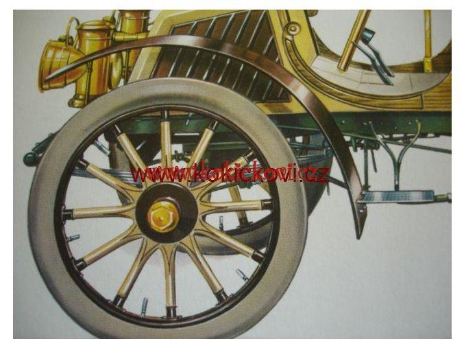 REPRODUKCE REKLAMNÍ TISK AUTOMOBIL NEUES VIERER 12K 1901
