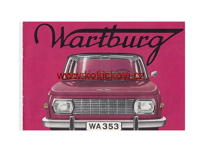 WARTBURG 353 1968 PROSPEKT 20 STRAN A4 PĚKNÝ STAV