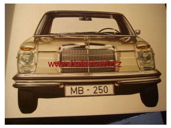MERCEDES 250 ORIG. PROSPEKT A4 - 10 STRAN 196?