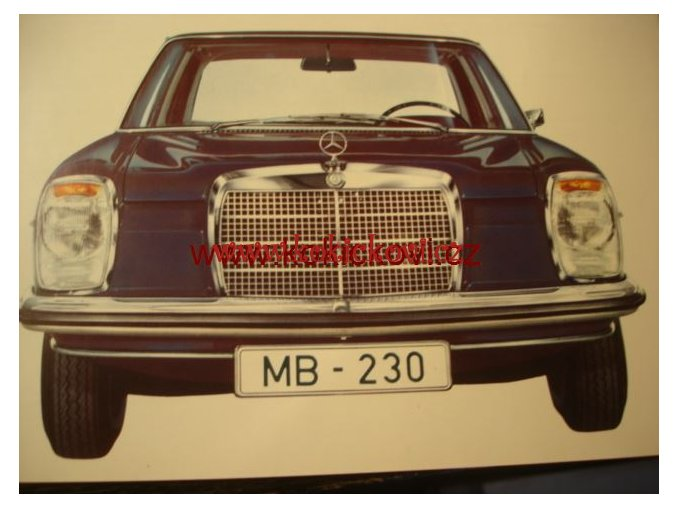 MERCEDES 230 ORIG. PROSPEKT A4 - 10 STRAN 196?