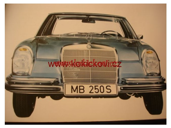 MERCEDES 250 S ORIG. PROSPEKT A4 - 10 STRAN 196?