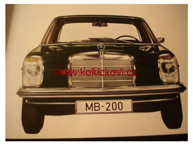 MERCEDES 200 ORIG. PROSPEKT A4 - 10 STRAN 196?