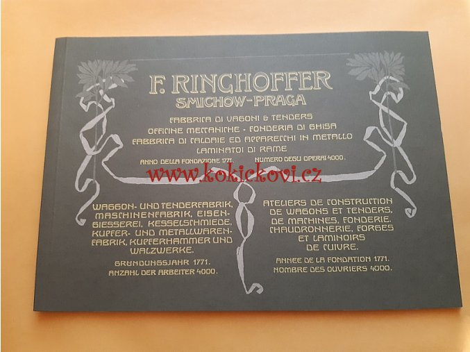 WAGGON UND MASCHINENFABRIK F. RINGHOFFER ZAVŘENÉ VOZY REPRINT