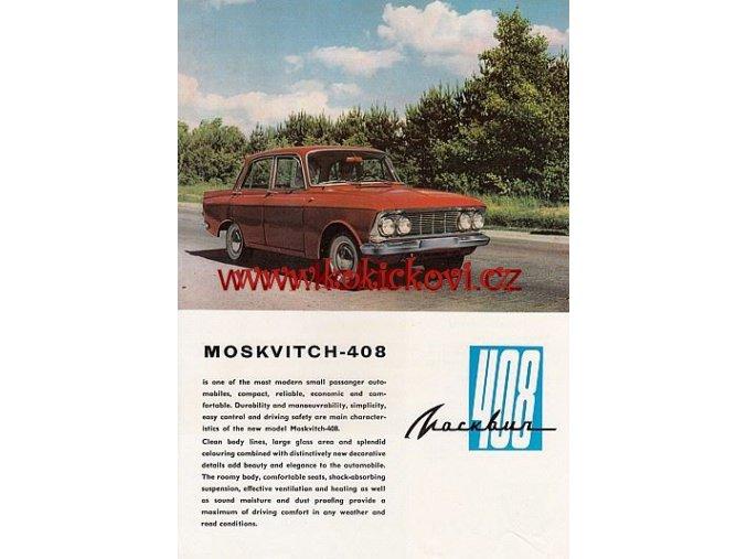 MOSKVITCH 408 AVTOEXPORT PROSPEKT MOSKVIČ