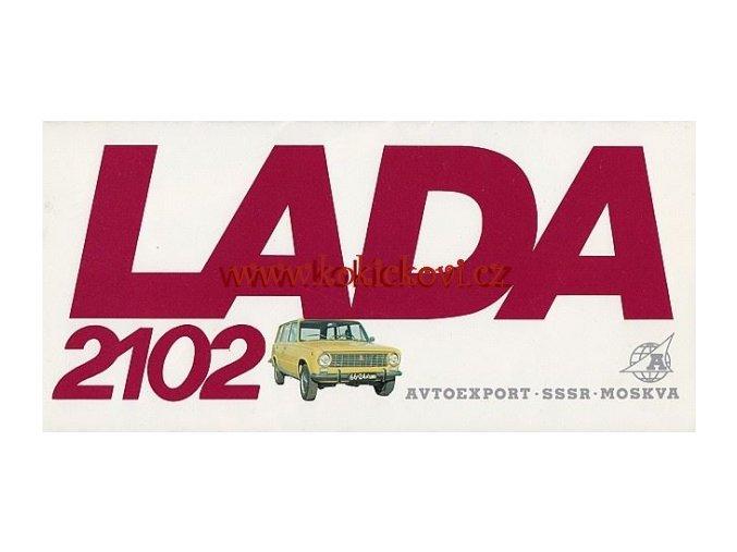 PROSPEKT LADA 2102 AVTOEXPORT ČESKY