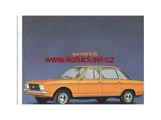 VOLKSWAGEN K 70 PROSPEKT 1 A4