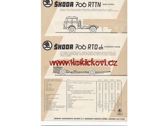 ŠKODA 706 RTTN 706 RTO ch RTC 3 RTS 1 PROSPEKT