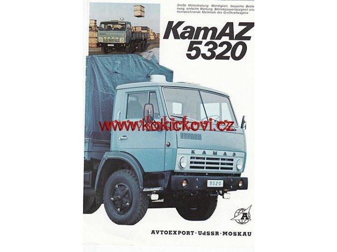 NÁKLADNÍ AUTOMOBIL KAMAZ 5320 AVTOEXPORT MOSKVA REKLAMNÍ PROSPEK