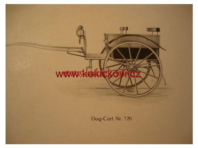 VÝKRES TISK KOČÁRU DOG CART NR. 720 20. > 30. LET ROZMĚRY 24