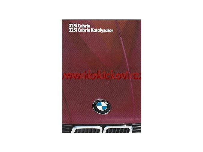 BMW 325 i CABRIO NĚMECKY A4 26 STRAN 1986