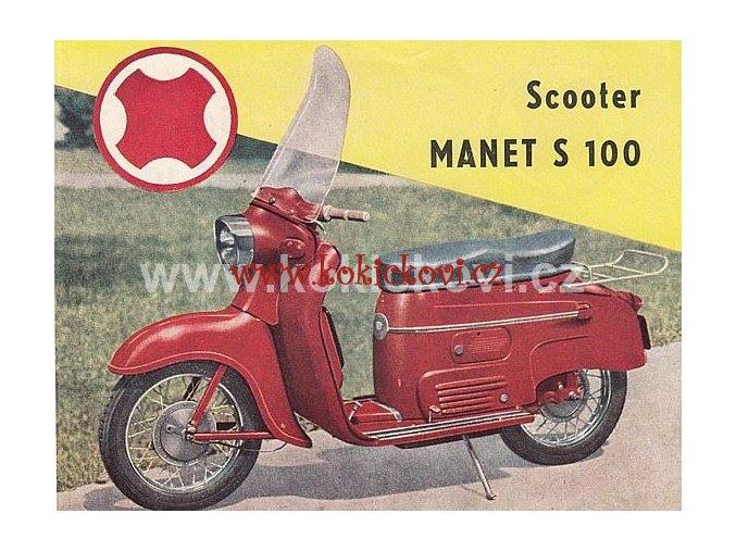 MANET S 100 SCOOTER - PROSPEKT - 1959 francouzsky