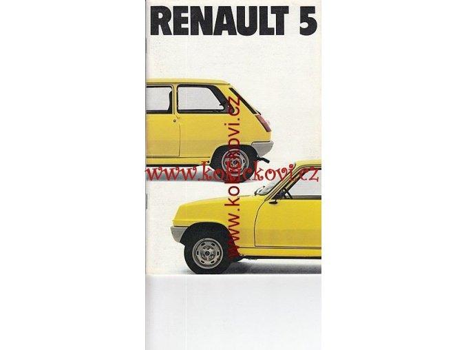 RENAULT 5  PROSPEKT 32 STRAN NĚMECKY