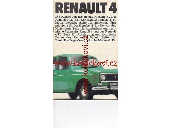 RENAULT 4  PROSPEKT 16 STRAN NĚMECKY