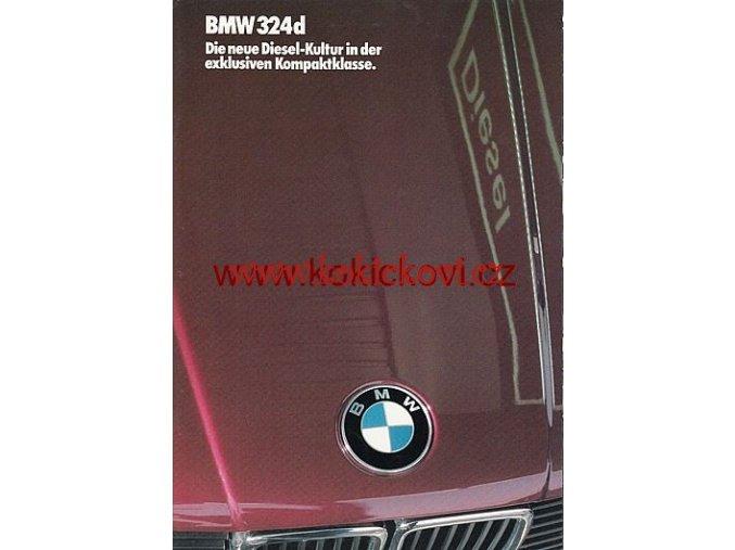 BMW 324d PROSPEKT NĚMECKY A4 28 STRAN 1986