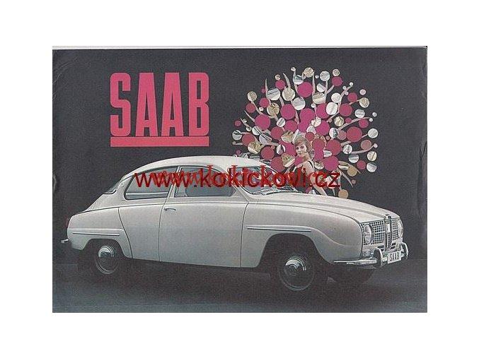SAAB PROSPEKT 1964 TEXT ANGLICKY