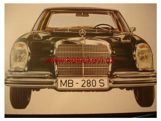 MERCEDES 280 S 280 SE ORIG. PROSPEKT A4 - 10 STRAN 196?